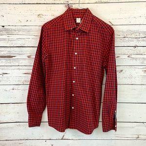 Crewcuts Navy Red check Dress shirt